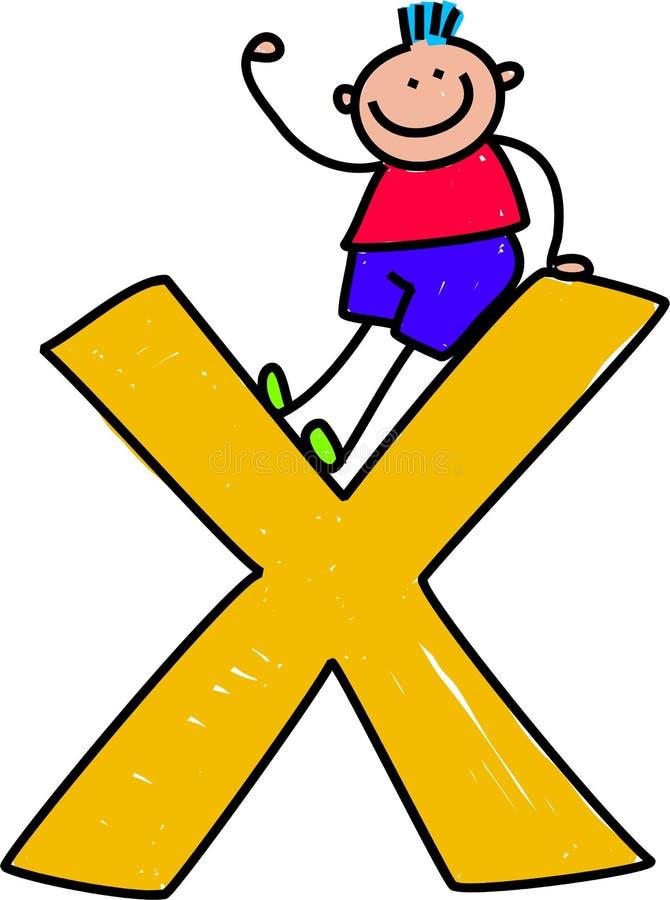 Brief X jongen stock illustratie
