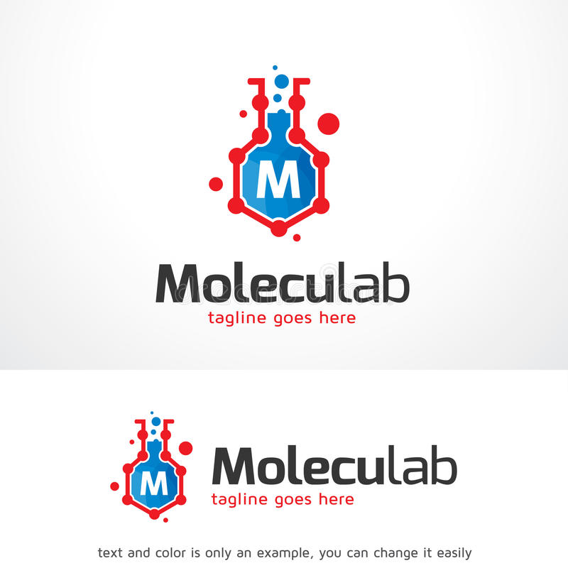 Brief M Lab Logo Template Design Vector royalty-vrije illustratie