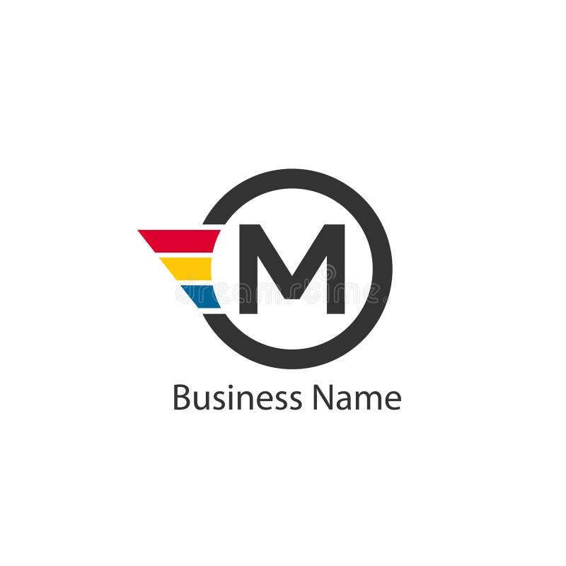 Brief M Logo Design vector illustratie