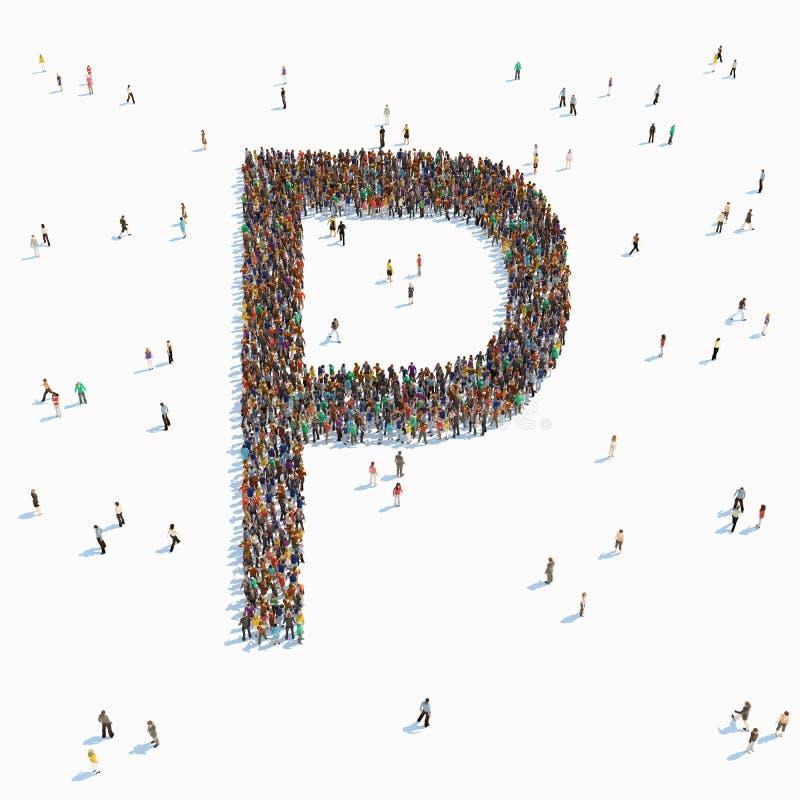 Brief met mensen vector illustratie