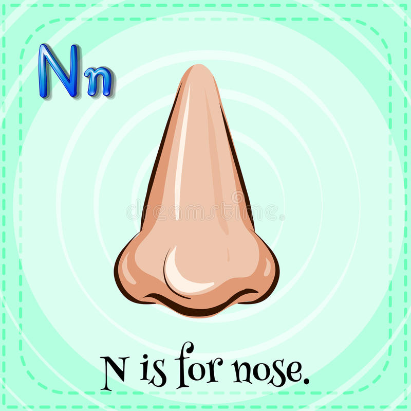 Brief N vector illustratie