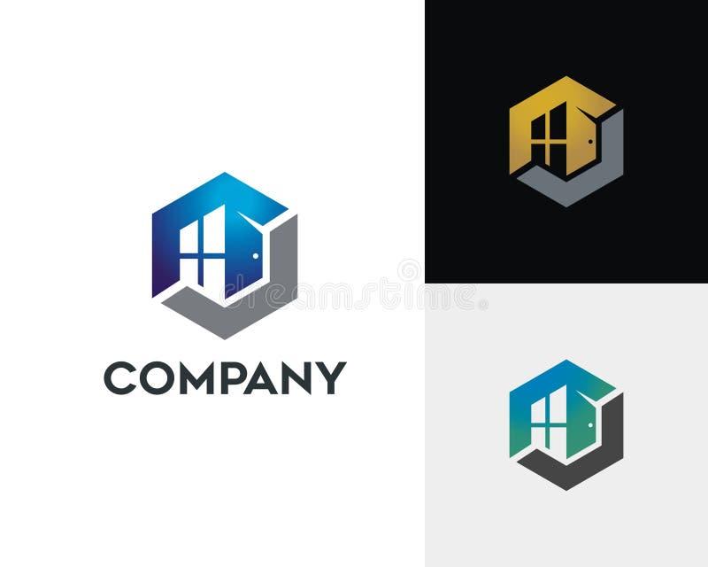 Brief O Real Estate Logo Concept royalty-vrije illustratie
