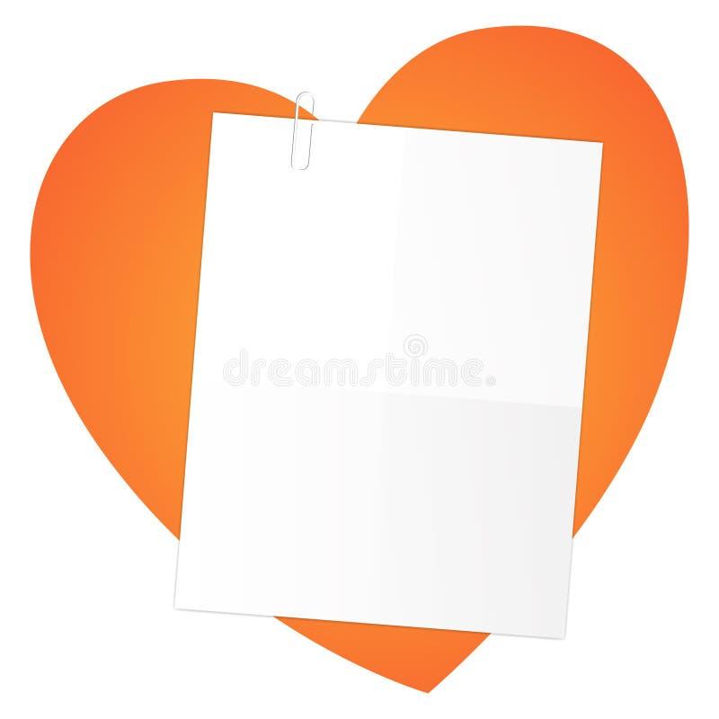 Brief op een hart stock illustratie