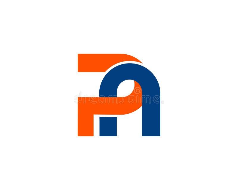 Brief PN, NP het aanvankelijke creatieve ontwerp van het embleemmalplaatje vector illustratie