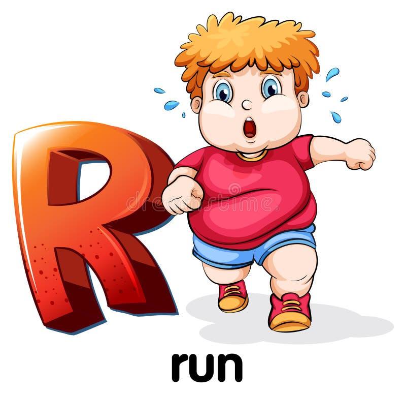 Brief R vector illustratie
