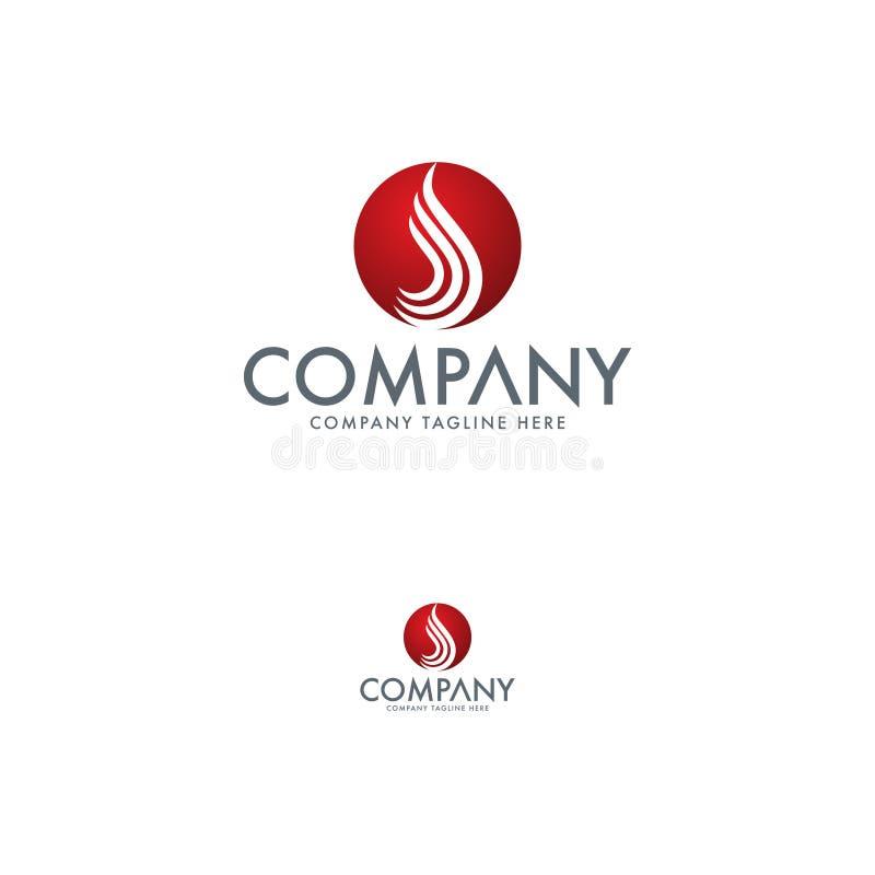 Brief S en Waterdaling Logo Template royalty-vrije illustratie
