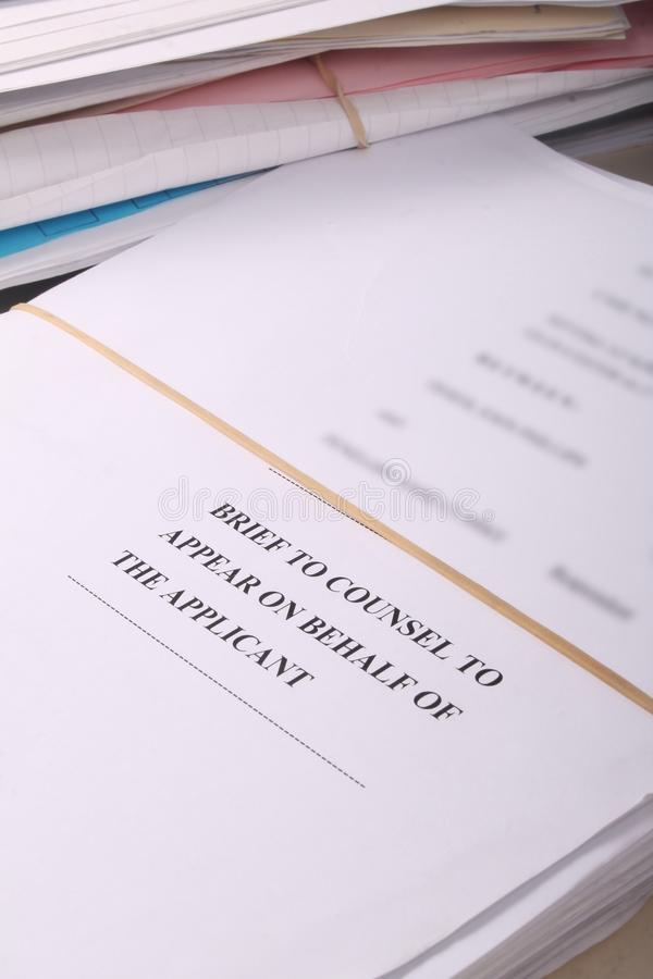 Download Brief To Counsel Court Bundle Stock Image - Image: 28463421