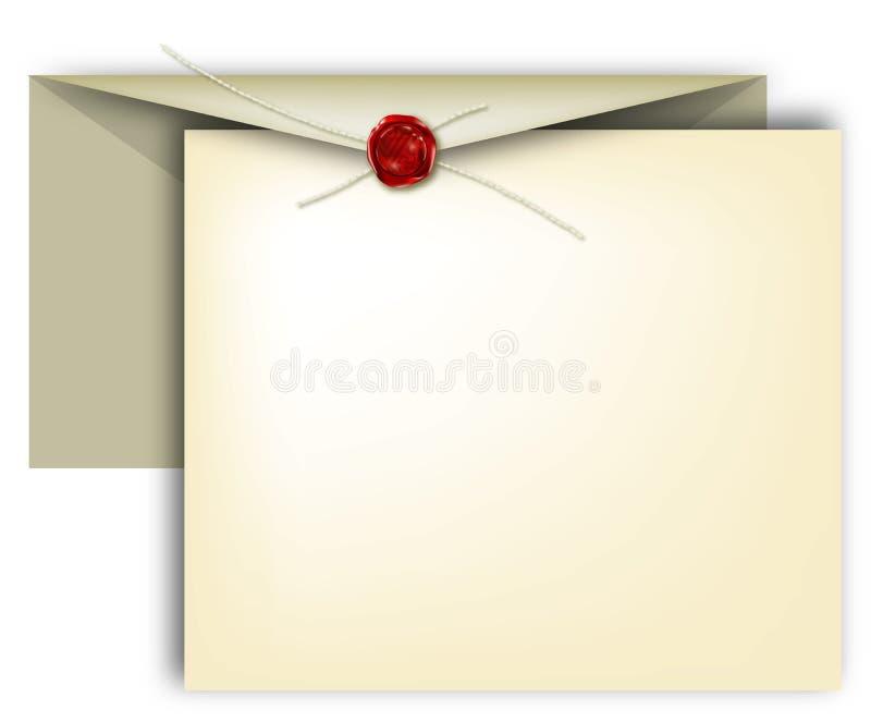 Download Brief, uitnodiging vector illustratie. Illustratie bestaande uit gebeurtenis - 280734