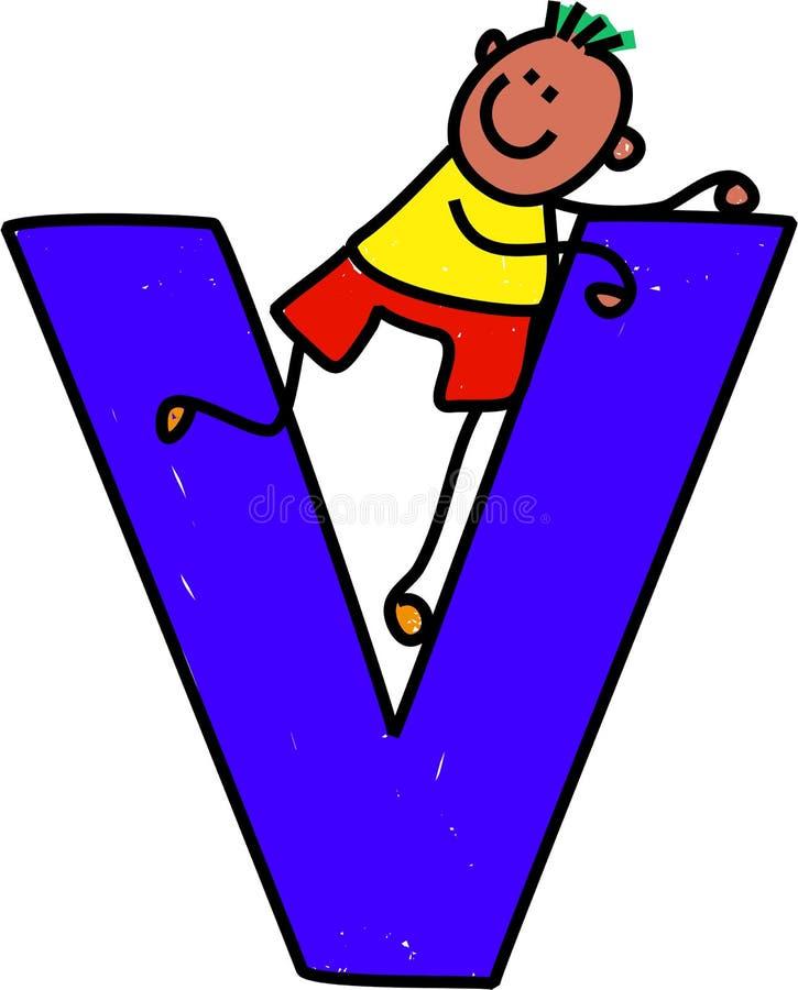 Brief V jongen vector illustratie
