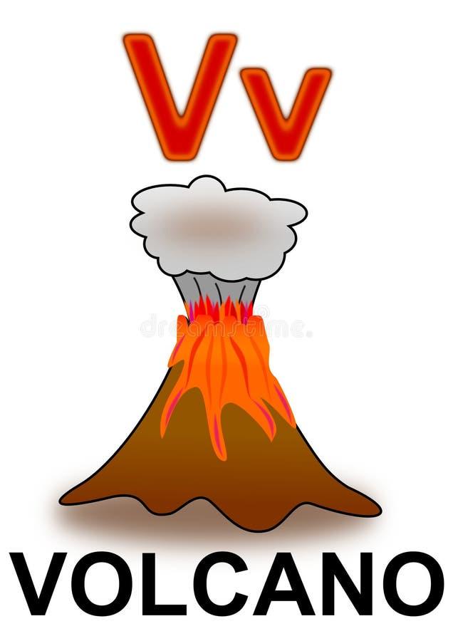 Brief V vulkaan