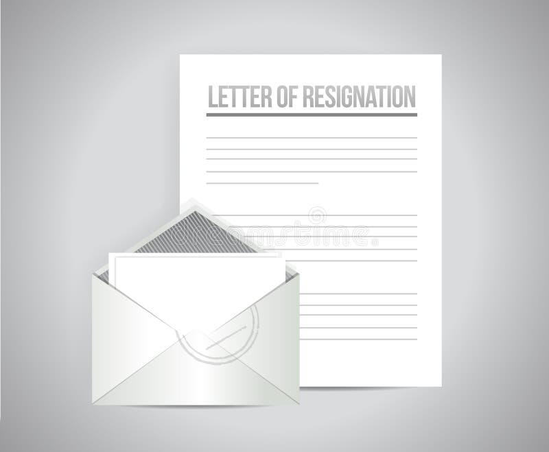 Brief van berustingsdocumenten illustratieontwerp royalty-vrije illustratie