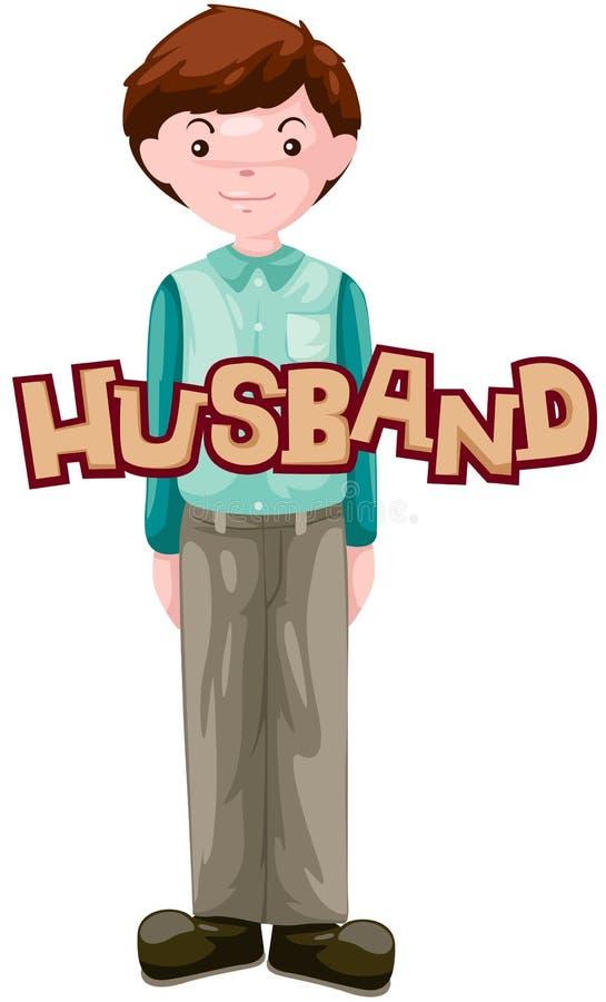 Brief van echtgenoot stock illustratie