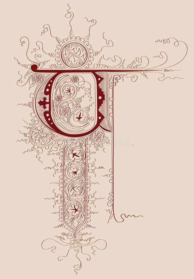 Brief van het manuscript stock illustratie