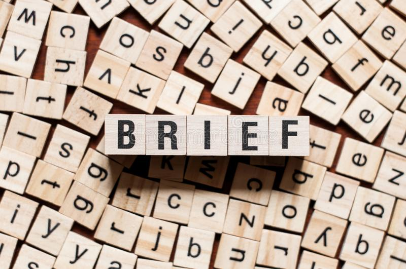 Brief word concept stock images