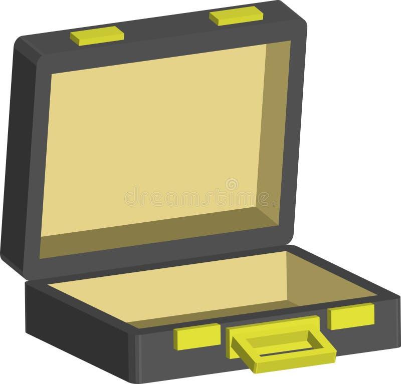Download Briefcase stock vector. Image of black, briefcase, handle - 2129552