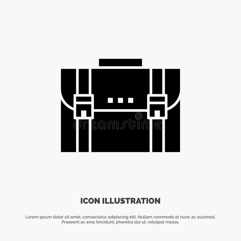 Briefcase, Business, Case, Documents, Marketing, Portfolio, Suitcase solid Glyph Icon vector vector illustration