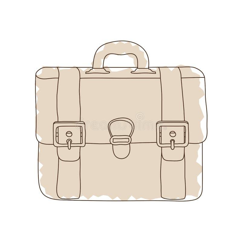 Briefcase_doodle διανυσματική απεικόνιση