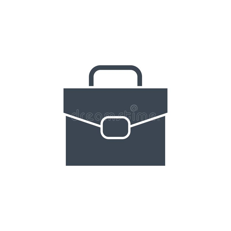 Briefcase Flat related vector glyph icon. Briefcase related vector glyph icon. Isolated on white background. Vector illustration royalty free illustration