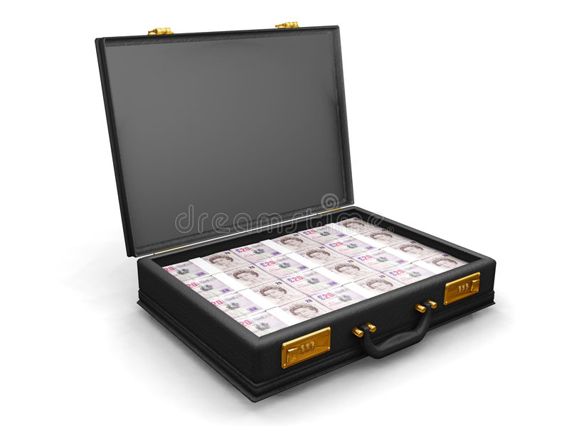 Briefcase full of money vector illustration