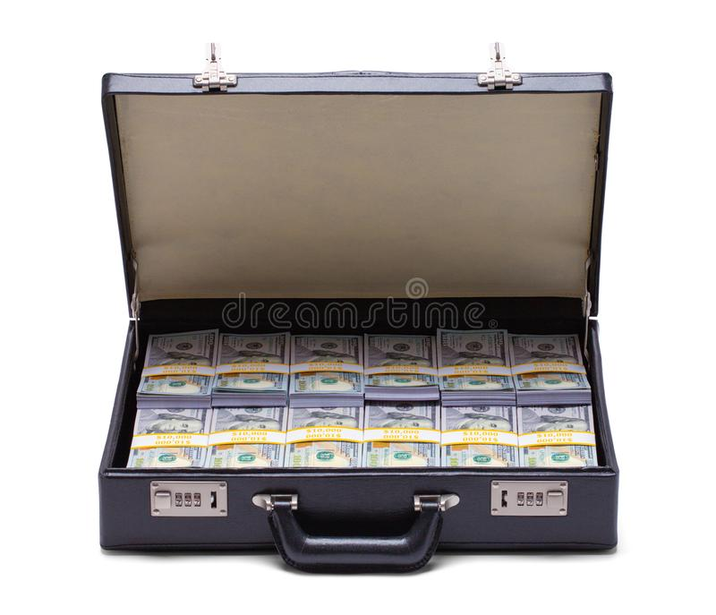 Briefcase Full of Money royalty free stock photo