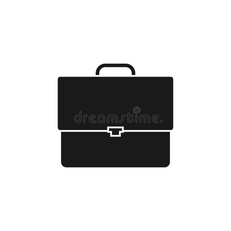 Briefcase icon design template vector isolated. Illustration royalty free illustration