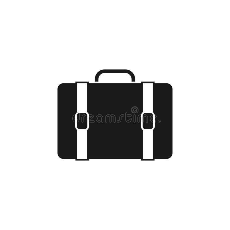 Briefcase icon design template vector isolated. Illustration stock illustration