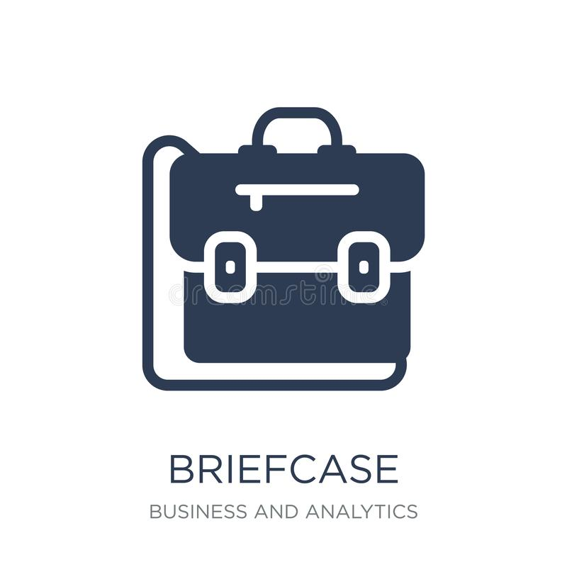Briefcase icon. Trendy flat vector Briefcase icon on white background from Business and analytics collection. Vector illustration can be use for web and mobile stock illustration