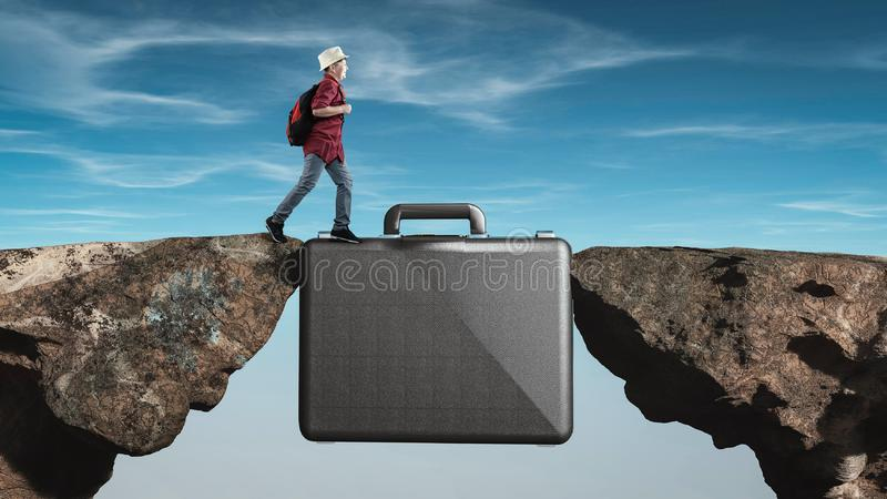 Briefcase internship. Internship concept royalty free stock images