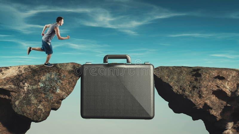 Briefcase internship. Internship concept stock photo