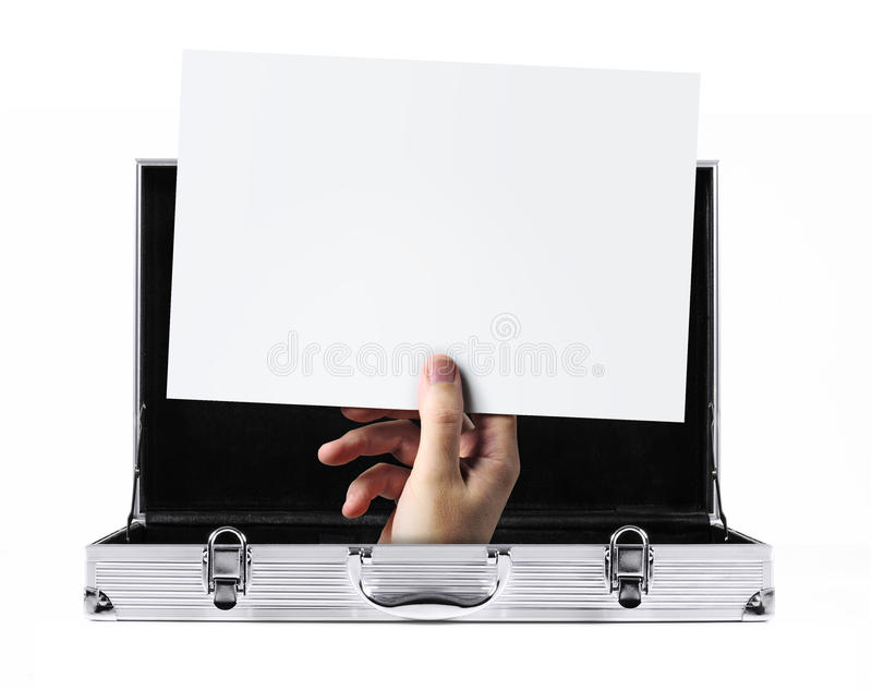 Download Briefcase message stock image. Image of hand, briefcase - 20860887