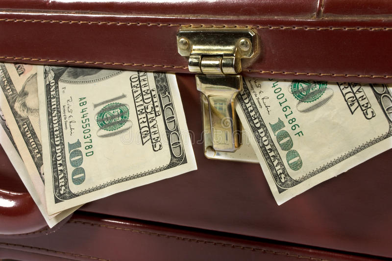 Download Briefcase with money stock photo. Image of dollar, background - 10572422