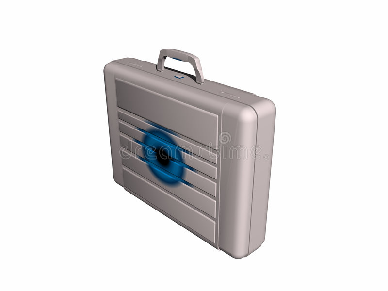 Briefcase from side. royalty free illustration