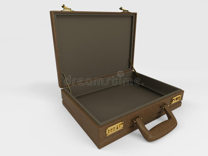 Briefcase on white stock illustration