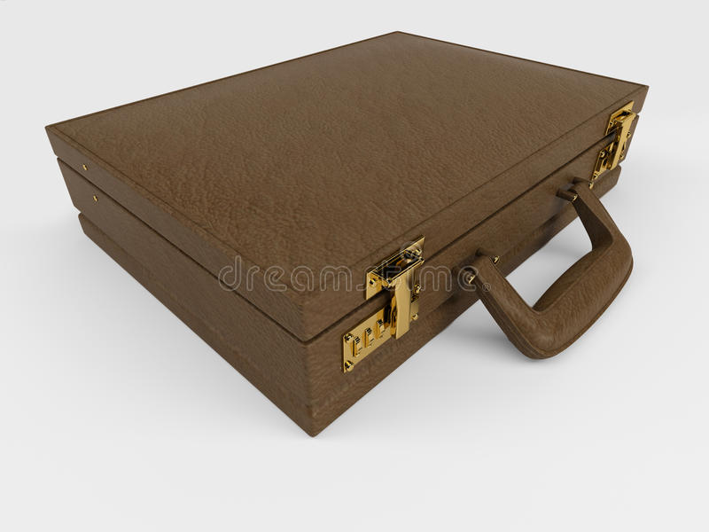 Briefcase on white royalty free illustration