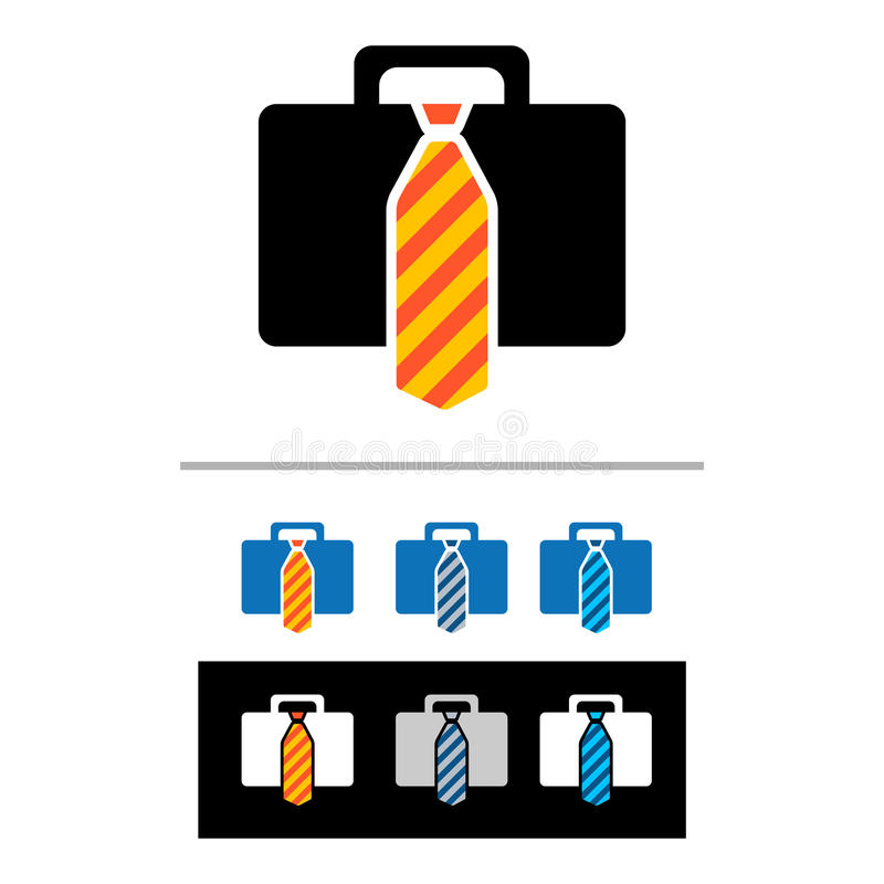 Download Briefcases icons stock vector. Image of vector, black - 28524217