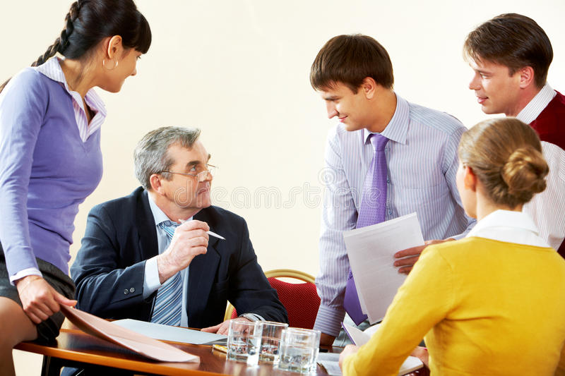 Briefing royalty free stock images