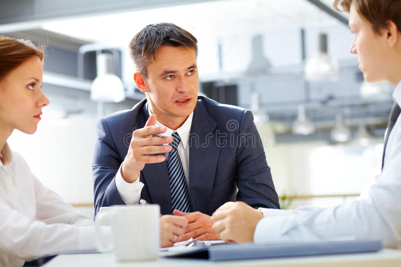 Briefing royalty free stock photography