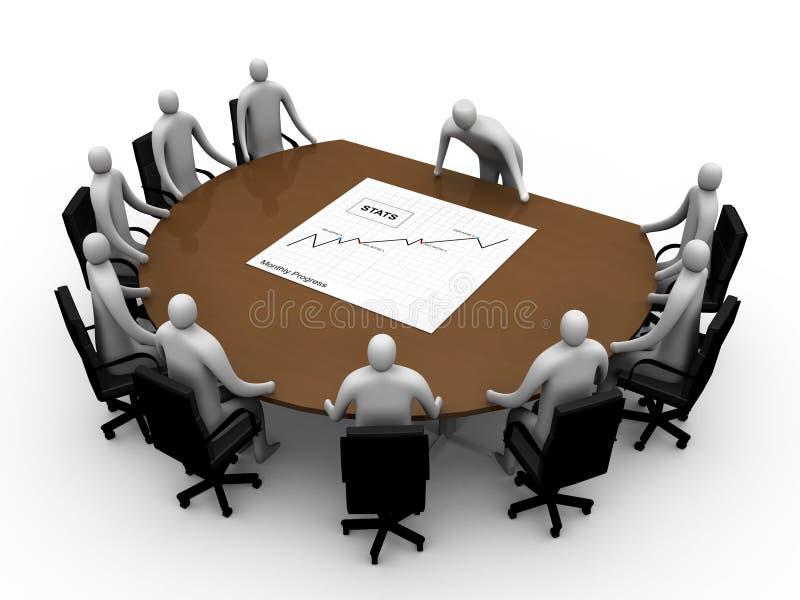 Briefing room #6 vector illustration