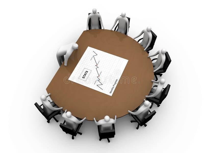 Briefing room #9 vector illustration