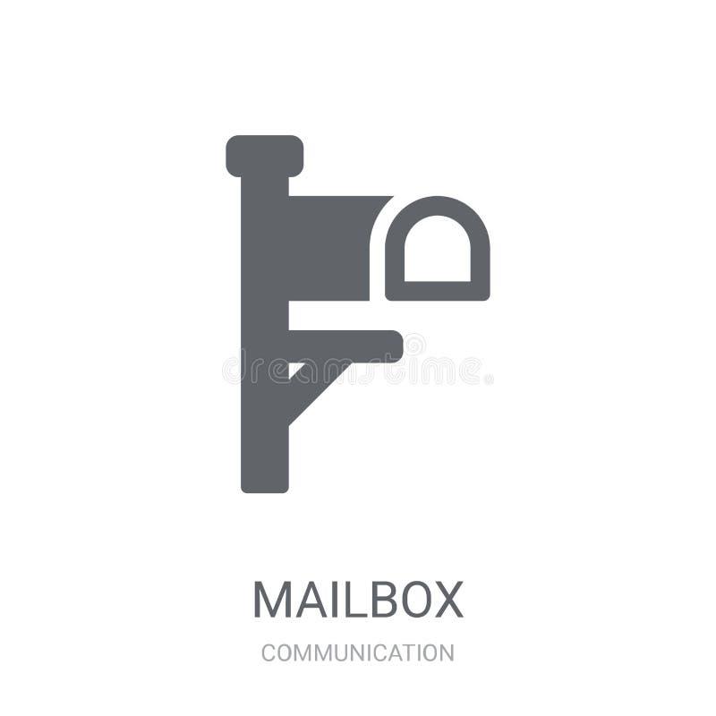 Briefkasten-Ikone  stock abbildung