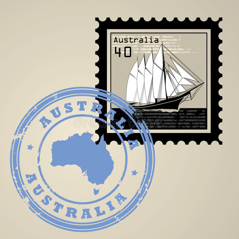 Briefmarke stock abbildung