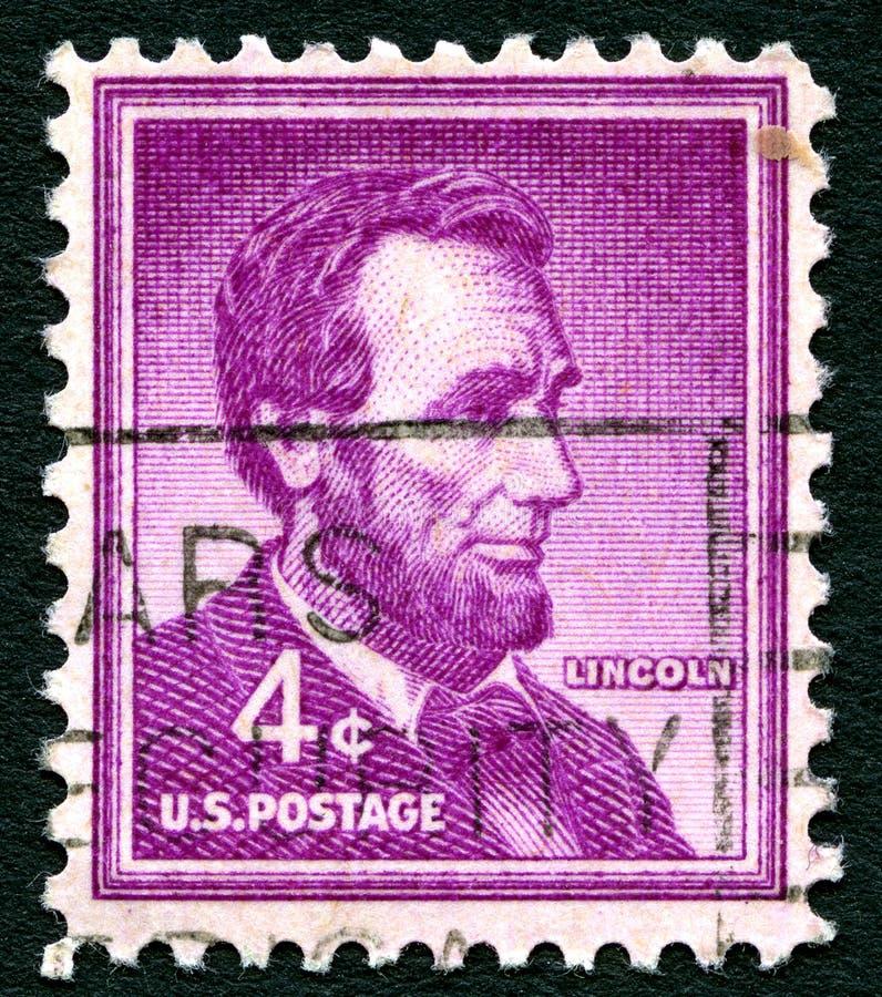 Briefmarke Abraham Lincolns USA stockfotografie