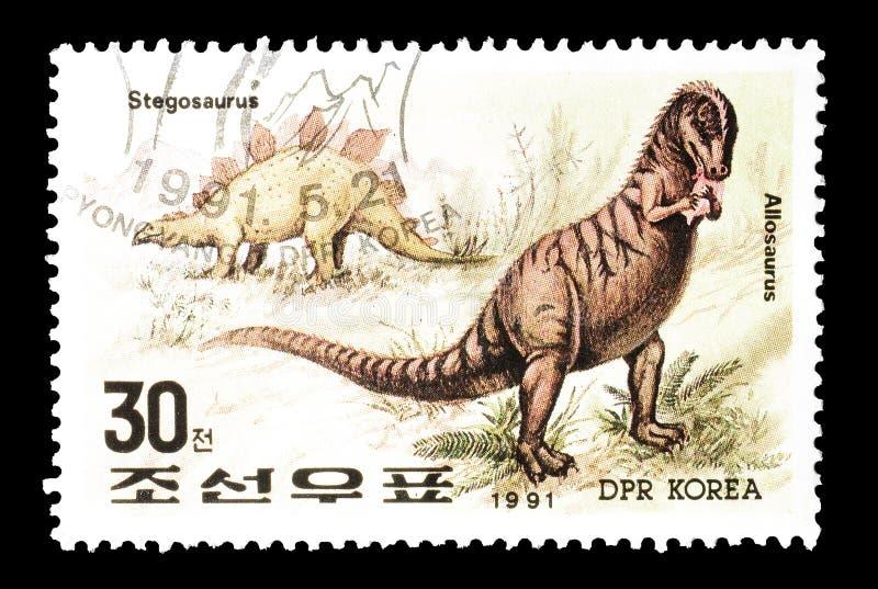 Briefmarke gedruckt durch Nordkorea stockfotografie