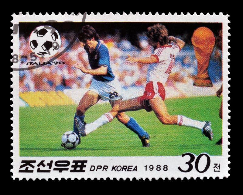 Briefmarke gedruckt durch Nordkorea lizenzfreies stockfoto