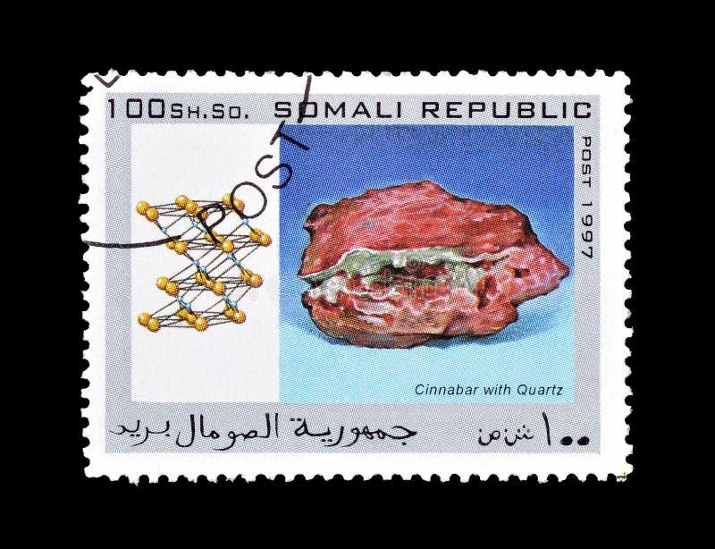 Briefmarke gedruckt von der Republik Somalia stockbild