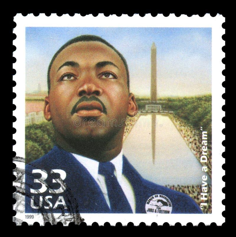 Briefmarke Martin- Luther Kingusa stockfotografie
