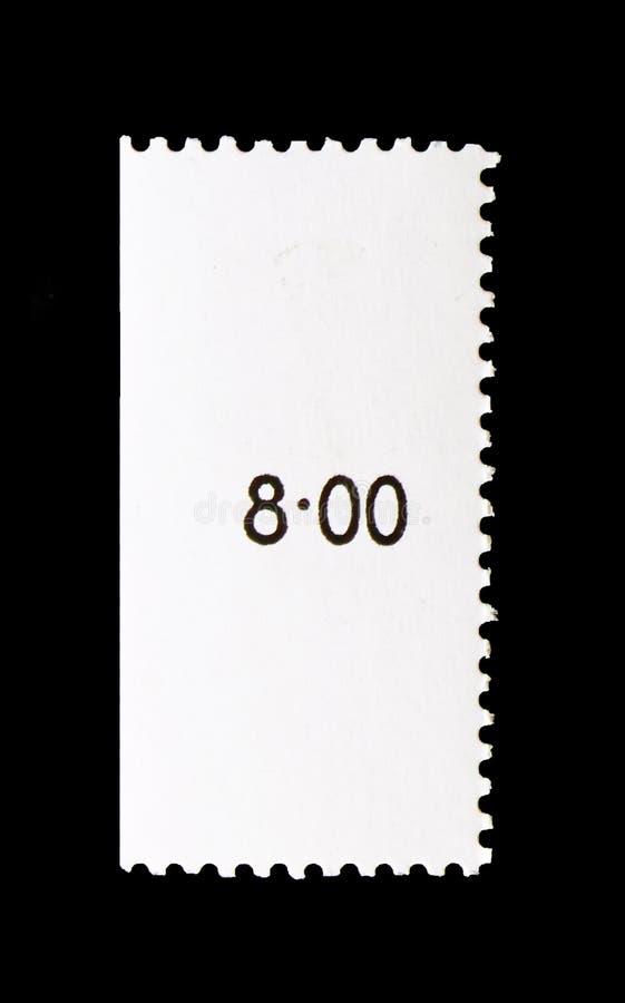 Briefmarke mit gedruckt 8-00 Stellen stockfotografie