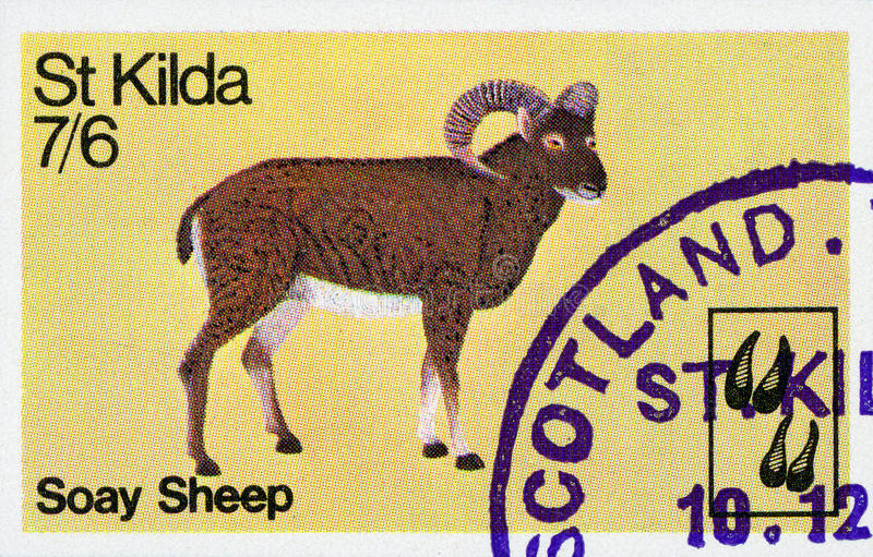 Briefmarke - Schottland stockfotografie