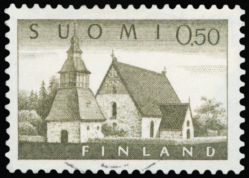 Briefmarke - Suomi stockbild
