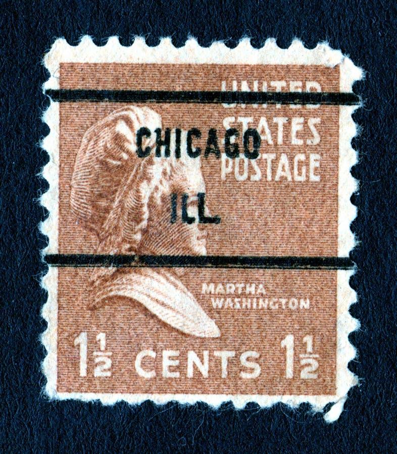 Briefmarke Weinlesemartha-Washington USA 1.5c lizenzfreies stockbild